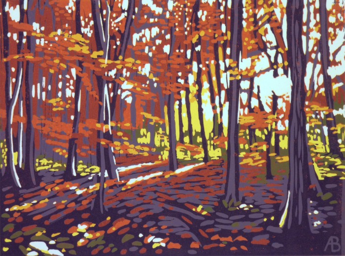 Stoke Wood in Autumn by Alexandra Buckle