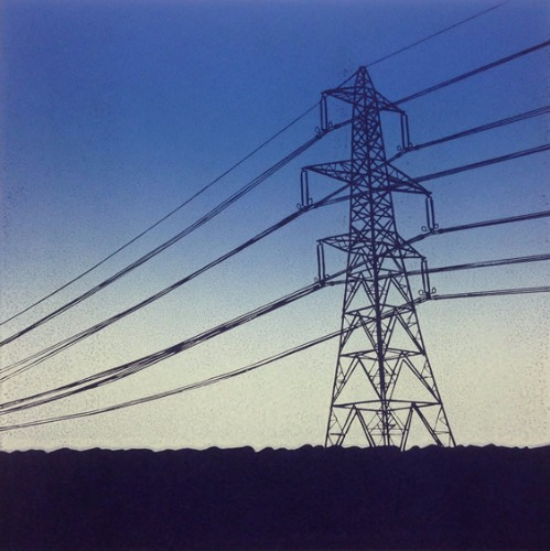 Pylon at Dusk by Alexandra Buckle