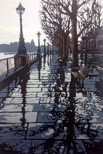 Rainy Southbank by Alexandra Buckle