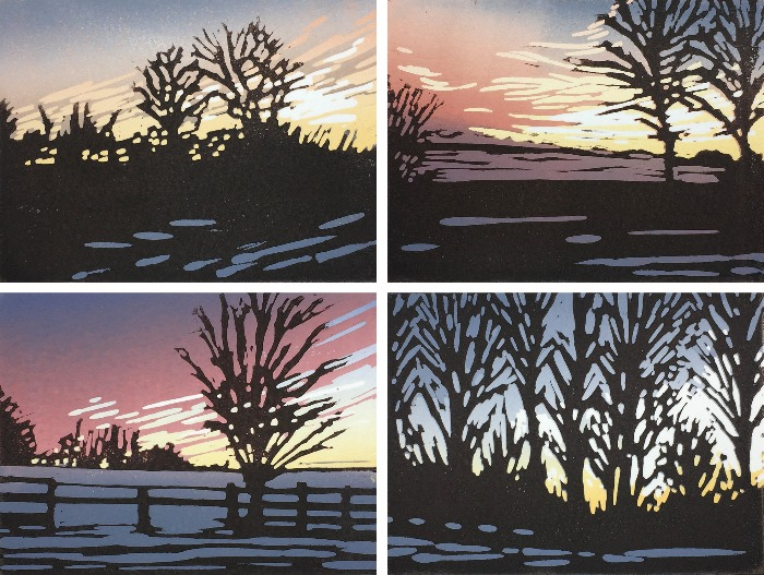 Snowy Sunset Series by Alexandra Buckle