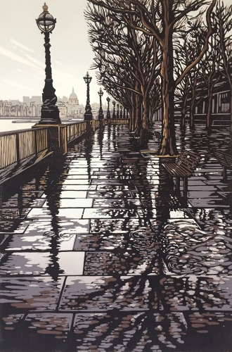 Southbank Puddles by Alexandra Buckle