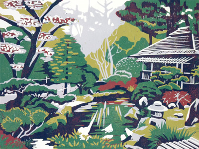 Japanese Tea Garden by Alexandra Buckle